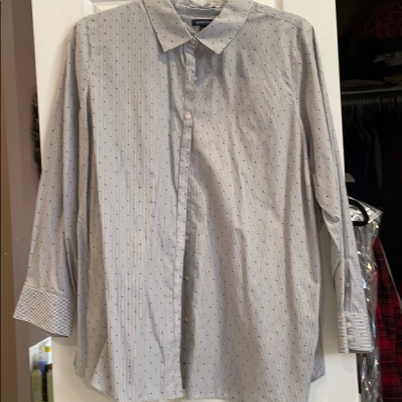 26w lands end no iron supima cotton long sl shirt
